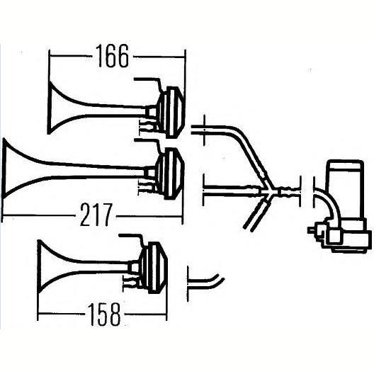 Звуковой сигнал-фанфары трех
